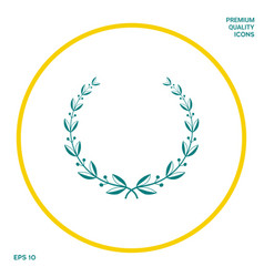 laurel wreath symbol graphic elements for your vector image