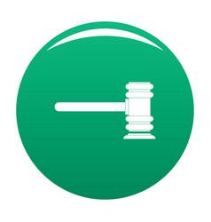 Legislation icon green vector