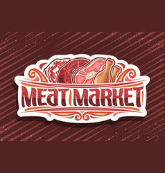 Logo for meat market vector