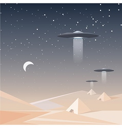 Low polygon style concept of unidentified flying vector