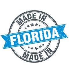 made in florida blue round vintage stamp vector image