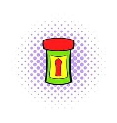 Male medicine icon comics style vector image