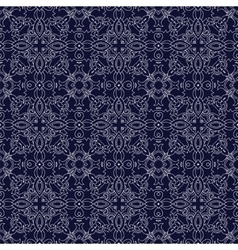 Medieval floral seamless pattern vector image