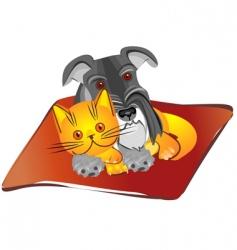 miniature schnauzer dog vector image