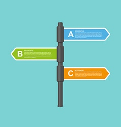 Modern flat arrow signpost business options vector