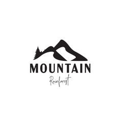 mountain logo design template isolated vector image