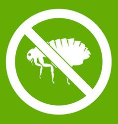 No flea sign icon green vector
