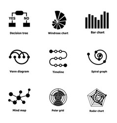 Option icons set simple style vector