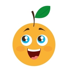 orange citrus fruit character vector image