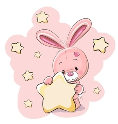 Rabbit with star vector