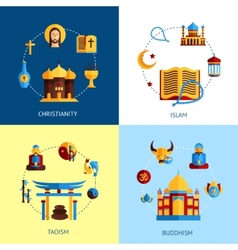 Religion Design Concept Set vector