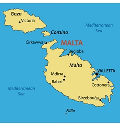 Republic of Malta - map vector image