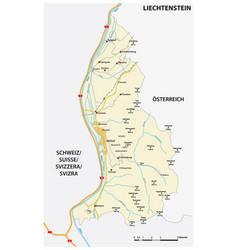 Road map liechtenstein vector