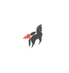 rocket-horse-logo vector image