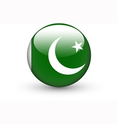 Round icon with national flag of Pakistan vector