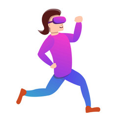 Run in game goggles icon cartoon style vector
