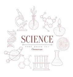 Science vintage sketch vector