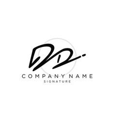 Signature initial logo template vector