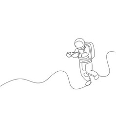 single continuous line drawing floating vector image