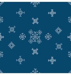 Snowflakes seamless patternBlue snow christmas vector image