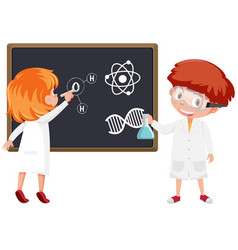 student in science classroom vector image