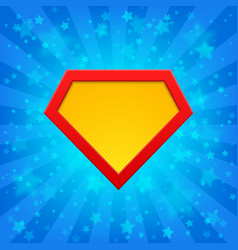 superhero symbol at bright background vector image