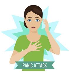 symptoms of panic attack vector image