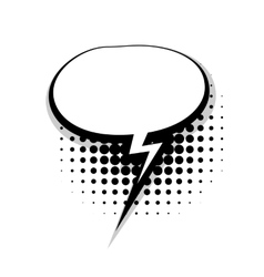 Template comic speech oval lightning bubble vector image