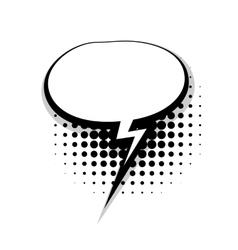Template comic speech oval lightning bubble vector