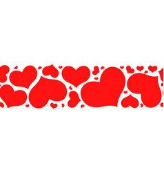 Valentines day horizontal pattern seamless with vector