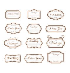 vintage collection retro vector image