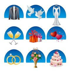 wedding icon set2 vector image