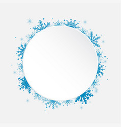 White circle snowflakes new year or christmas vector
