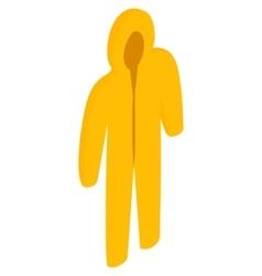 Yellow biohazard protective suit icon vector