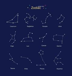 Zodiac design for education horoscope set vector