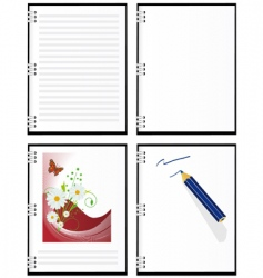 a set of four notebooks vector image