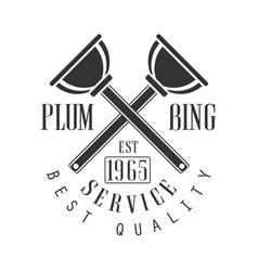 Best plumbing repair and renovation service black vector