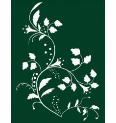 botanical background vector image
