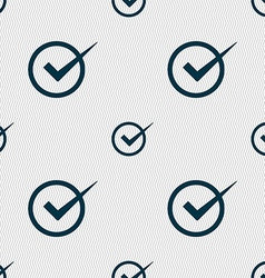 Check mark sign icon Checkbox button Seamless vector image vector image