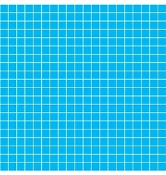 Five millimeters white grid on blue blueprint vector image