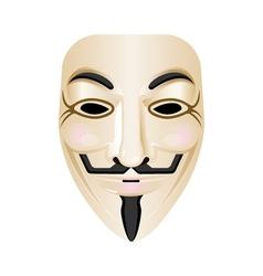 Hacker mask icon isolated on white Stylised vector image
