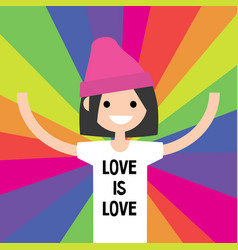 lgbtq rainbow lgbt rights conceptual flat vector image vector image