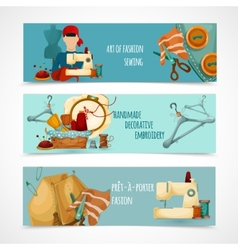 Sewing Banner Set vector image