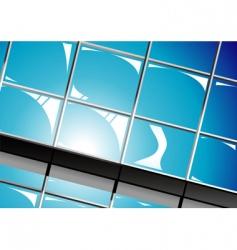 shiny window reflections vector image vector image