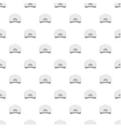 white baseball cap back pattern seamless vector image vector image