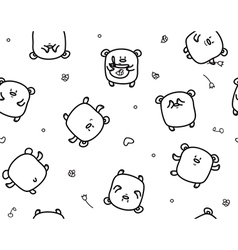 bears pattern vector image