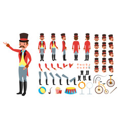 circus trainer animated character creation vector image