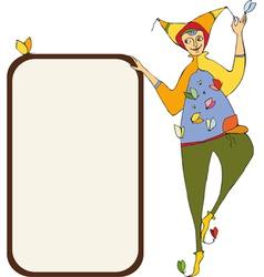 Clown Signboard vector image