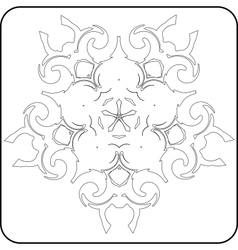 gothic pattern of curves vector image