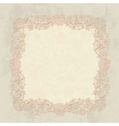 Khokhloma floral pattern frame vector